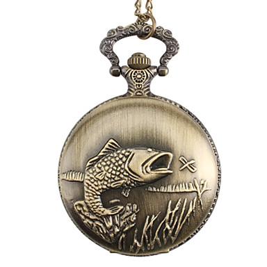 Unisex Fish Alloy Analog Quartz Pocket Watch (Bronze) Cool Watch Unique Watch Fashion Watch