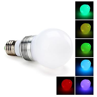 e27 3w 270lm RGB 조명 LED 공 전구 (85-265v)
