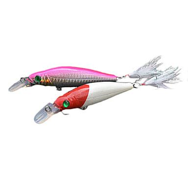 Köder für den Fischfang minnow Köder 110mm (weiß / pink)