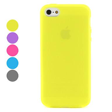 아이폰 5/5S (분류 된 색깔)를위한 투명한 서리로 덥은 디자인 TPU 연약한 케이스
