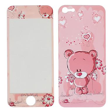 아이폰 5에 대한 사랑 곰 패턴 앞면과 뒷면 보호 스티커