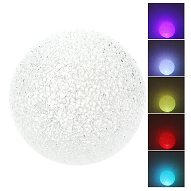Novelty Ball Style Colorful Light Crystal LED Night Lamp (3xLR44)