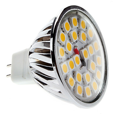 GU5.3 3 W 24 SMD 5050 240 LM Warm White MR16 Spot Lights DC 12 V