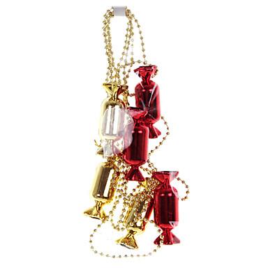 navidad adornos de oro rojo caramelo redondo colgar