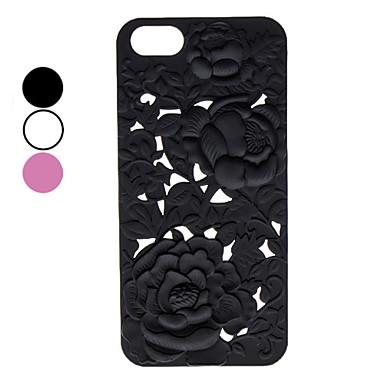 esculpir padrões de flores caso duro para o iPhone 5/5s (cores sortidas)