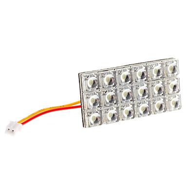 BA9S/Festoon/T10 6W 18-LED 400-450LM White Light LED Bulb for Car Door/Reading Lamp (12V)