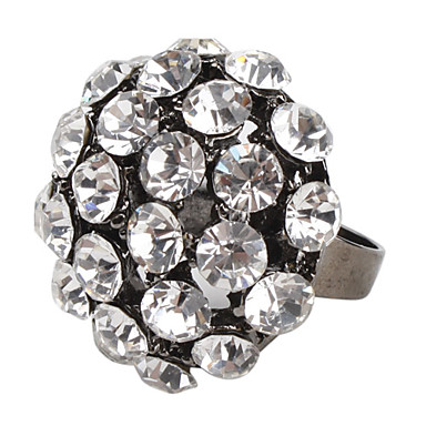 Bling Bling anillo tachonado de diamantes de imitación