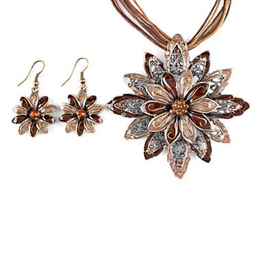 크리스탈 애것(마노) 패브릭 합금 귀걸이 목걸이 제품 일상 결혼 선물