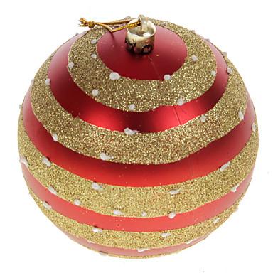 adornos de navidad rojo bolas de pvc (2 piezas)