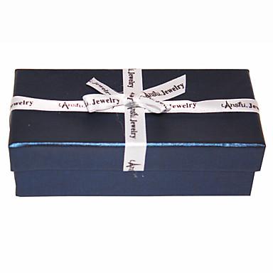 Silk Bowknot Navy Blue Jewelry Box