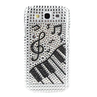 Shining Rhinestone Musical Note Pattern Hard Case for Samsung Galaxy S3 I9300