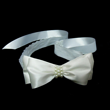 Kadın Saten İmitasyon İnci Başlık-Düğün Özel Anlar Saç Bantları