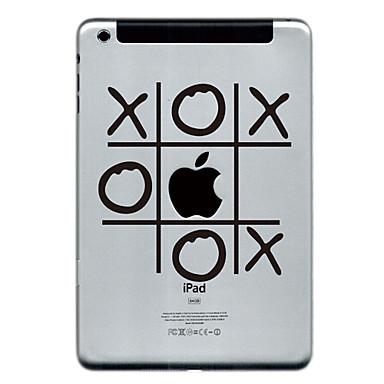o ve ipad Mini 3, ipad Mini 2, ipad Mini için x tasarım koruyucusu sticker