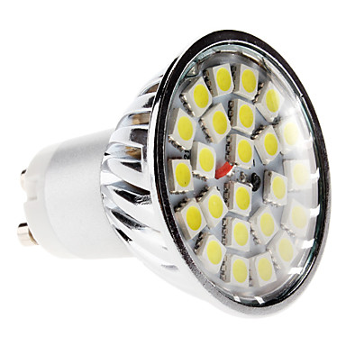 GU10 5 W 24 SMD 5050 420 LM Warm White / Cool White MR16 Spot Lights AC 220-240 V