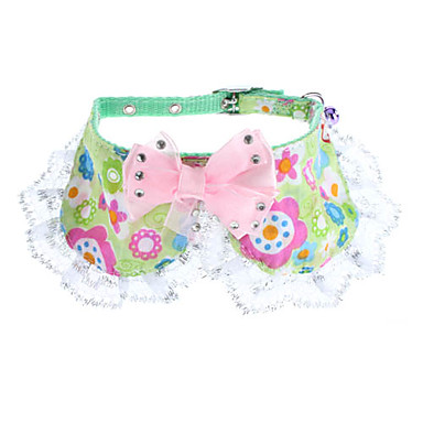 Adjustable Bowknot Style Flowery Pattern Collar for Dogs, Cats