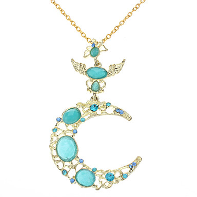 z&X® måne vinkel diamant halsband