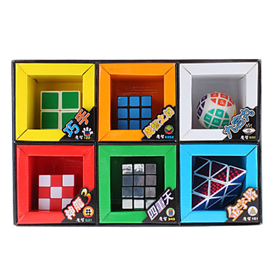 6-in-1 Gift Pack Magic Cube Mirror Sphere 2x2x1 Pyramid Toy Set