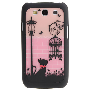 Прекрасные кошки и Birdcage Pattern 2 в 1 съемный жесткий чехол для Samsung Galaxy I9300 S3