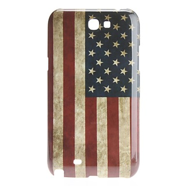 Estilo Retro EE.UU. Bandera Nacional Caso Patrón duro para el Samsung Galaxy Note N7100 2