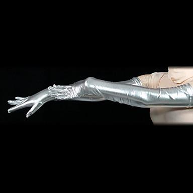 Eldivenler Ninja Zentai Cosplay Kostümleri Gümüş Solid Eldivenler Spandex Erkek Kadın's Cadılar Bayramı