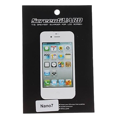 Protector de pantalla transparente Protector con paño de limpieza para Nano 7