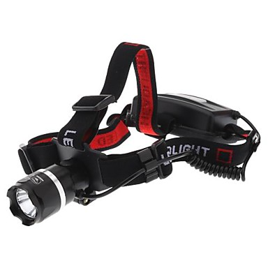 ajustável Cree XR-E Q5 levou farol com três cintos + preto vermelho e um carregador