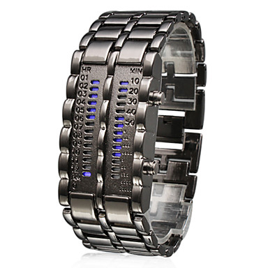 Alloy Band 28 LED Army Style Wrist Watch For Men