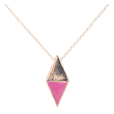 z&X® moda stil içi boş üçgen şekli kolye
