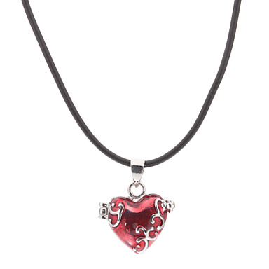 Pendant Necklaces Heart Glass Alloy Love Heart Jewelry For Thank You Daily Valentine