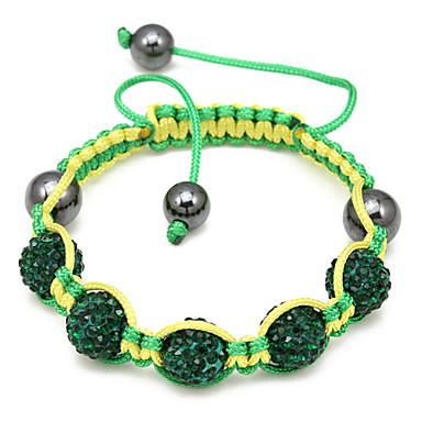 grønne perler reb vævet armbånd