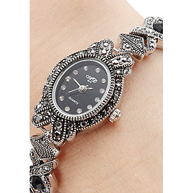 Per donna Orologio braccialetto Giapponese Quarzo Nero Orologio casual Analogico Donne Con ciondoli Di tendenza - Argento Un anno Durata della batteria / SSUO SR626SW
