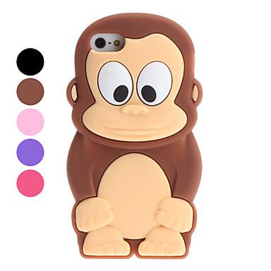 Carcasa Suave de Mono para el iPhone 5 - Colores Surtidos