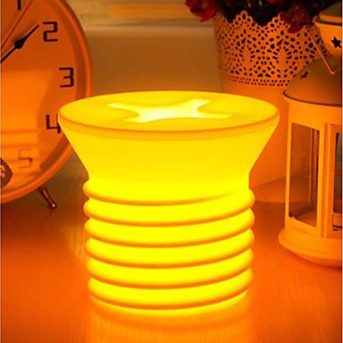 Creative Screw Shaped Warm White Light LED Desk Night Lamp (220V)