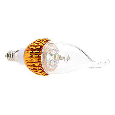 E14 3 W 3 High Power LED 270 LM Warm White CA Dimmable Candle Bulbs AC 85-265 V