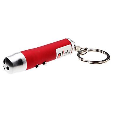3-en-1 1-el modo de luz blanca LED llavero linterna + láser rojo (3xLR44)