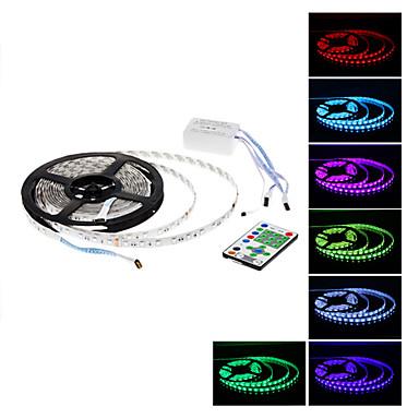 Vandtæt 5M 270x5050 SMD RGB Light Fjernstyret LED Strip Lamp (12V)
