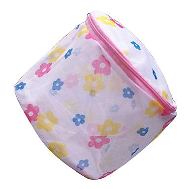 Printed Bra Protecting Wash Bag With Stand(Random Colors)