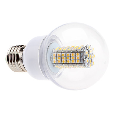 E26/E27 LED Küre Ampuller G60 102 led SMD 3528 Sıcak Beyaz 550lm 2700KK AC 220-240V