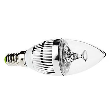 3W 250-350lm E14 LED Candle Lights C35 3 LED Beads High Power LED Dimmable Decorative Natural White 110-130V 220-240V