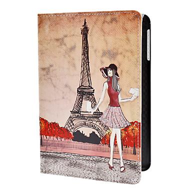 ragazza e la torre eiffel modello pu custodia in pelle w / stand per iPad mini 3, Mini iPad 2, ipad mini