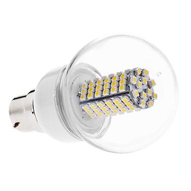 B22 Lampadine globo LED G60 120 leds SMD 3528 Bianco caldo 500lm 3000KK AC 110-130 AC 220-240V
