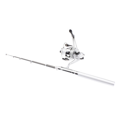 Portable/Compact/Light Aluminium Alloy Fishing Rod Pen(Silver)