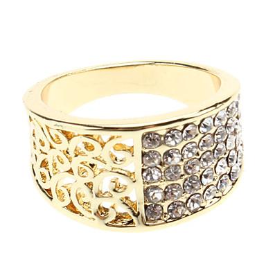 reducir a la mitad el anillo de diamantes de imitación hueco (color surtidos)
