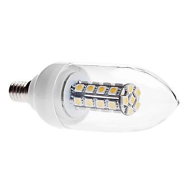 3000 lm E14 LED Mum Işıklar C35 30 led SMD 5050 Dekorotif Sıcak Beyaz AC 85-265V