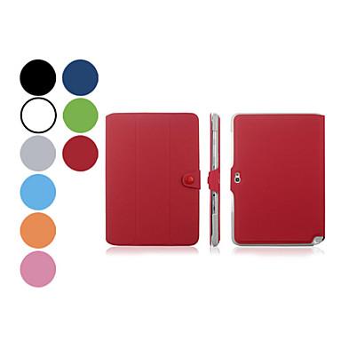 Pentru Samsung Galaxy Note Cu Stand / Întoarce / Origami Maska Corp Plin Maska Culoare solida PU piele Samsung Note 10.1 / Tab 2 10.1
