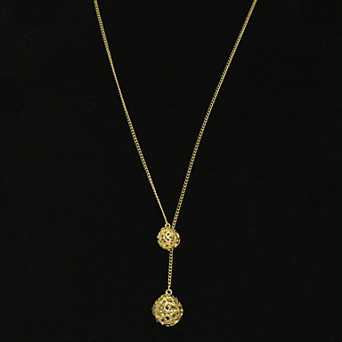 Gold Plated Ball Shaped Alloy Necklace