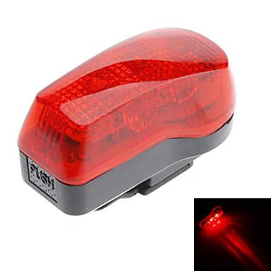 Rosso + Nero ABS 7 Super Bright LED / 4 lampeggiante Luce della bicicletta Modalità di sicurezza