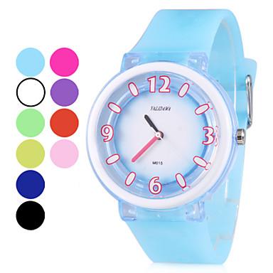 Unisex Rubber Quartz Analog Wrist Watch (Assorted Colors)