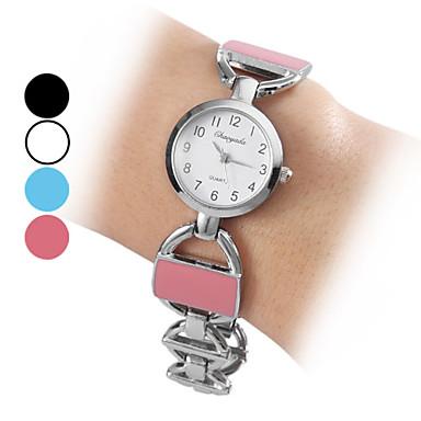 Kvinnors Analog Alloy kvarts armband klocka (blandade färger)