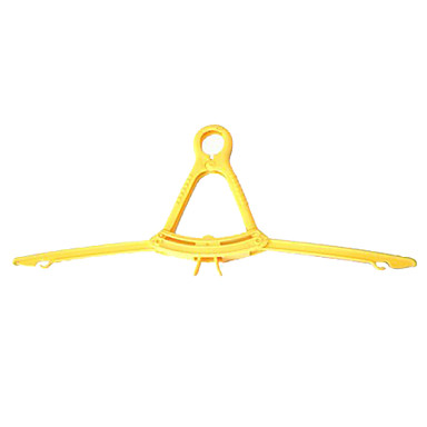Economical Foldable Clothes Hanger for Travel (Random Color,5-Piece/Set)